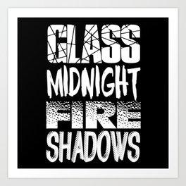 Throne of Glass Series Titles Art Print
