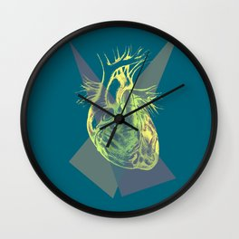 The geometry of the heart Wall Clock