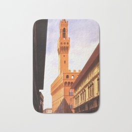 Vintage Florence Italy Travel Bath Mat