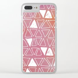 Tribal Watercolours - in Sunset Pink/Orange Clear iPhone Case