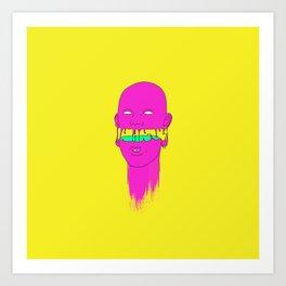 Pinky little head Art Print