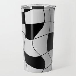Lines Black Travel Mug