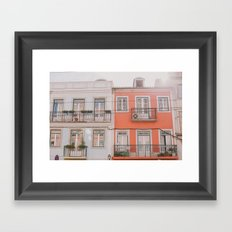 Travel to Lisbon Framed Art Print