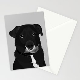 The Dashing Mixed-Breed Dog Stationery Cards