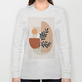 Geometric Shapes Long Sleeve T-shirt