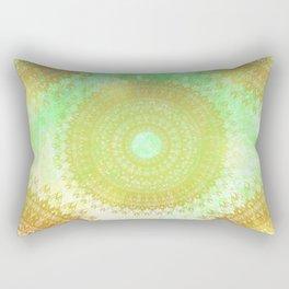 Golden Flower Mandala Rectangular Pillow