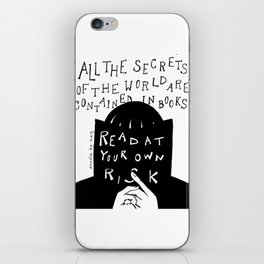 Read at Your Own Risk iPhone Skin