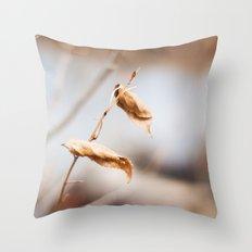 The Still of Winter Throw Pillow