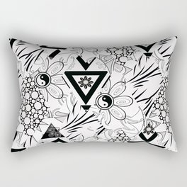 Abstract black and white pattern. Rectangular Pillow