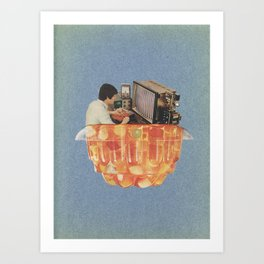Learn at home in your spare time Art Print