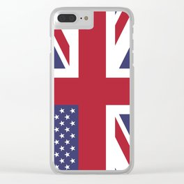 United States and The United Kingdom Flags United Forever Clear iPhone Case