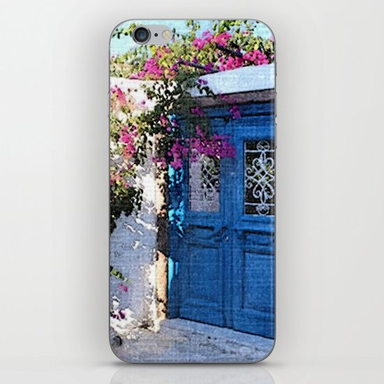 Santorini Doors iPhone Skin