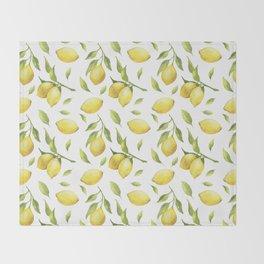 Lemon pattern Throw Blanket
