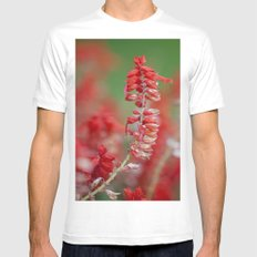 Red White Mens Fitted Tee MEDIUM
