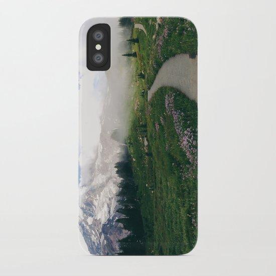 Mt Rainier Path iPhone Case