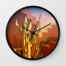 Mid-Century Arizona Amber Rose House Wall Clock