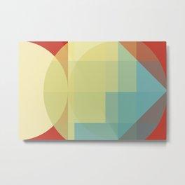 Geometric Retro Fusion Metal Print