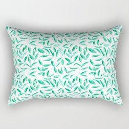 Fresh tea leaves    watercolor nature pattern Rectangular Pillow