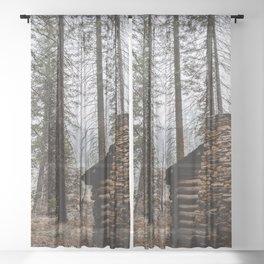 Mystic Log Cabin Sheer Curtain