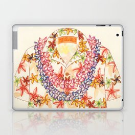Plumeria Lei Shirt Laptop & iPad Skin