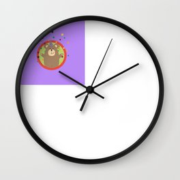 Party Bear with Spots in cirlce Wall Clock