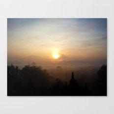 Sunrise at Borobudur, Indonesia  Canvas Print