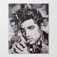 elvis Canvas Prints featuring Elvis by Ross Collins Artist