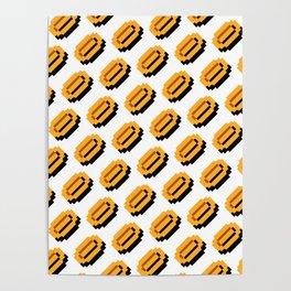 Super Mario Bros. coins pattern Poster