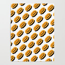 Super Mario Bros. coins pattern Poster