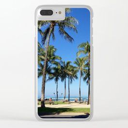 Tourist Palms Clear iPhone Case