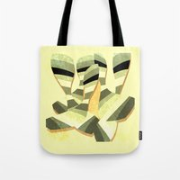 striped Tote Bags featuring striped by Herb Vaine