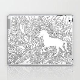Unicorn Drawing Meditation Laptop & iPad Skin