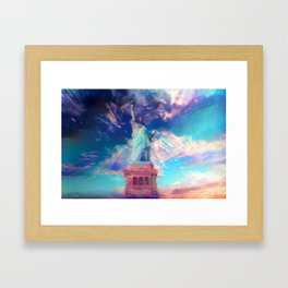 Welcome To The Bright Side Framed Art Print
