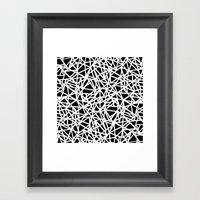 Ab Upside down Black Framed Art Print