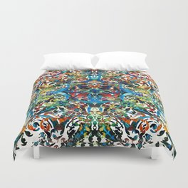 Bold Pattern Art - Color Fusion Design 8 By Sharon Cummings Duvet Cover