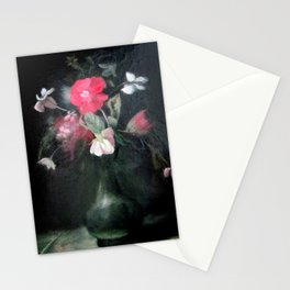 Red Flowers Stationery Cards
