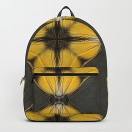 Yellow Butterfly Pattern Backpack