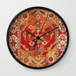 Transylvanian West Anatolian Carpet Print Wall Clock