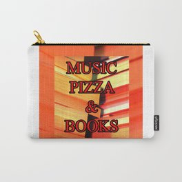 Music Pizza & Books Carry-All Pouch