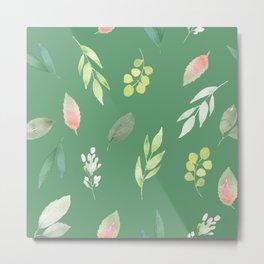 floral, succulent Metal Print