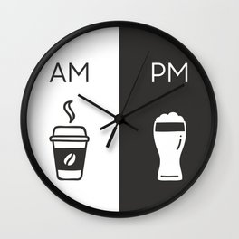 AM-PM, COFFEE & BEER Wall Clock