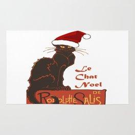 Le Chat Noel Christmas Vector Rug