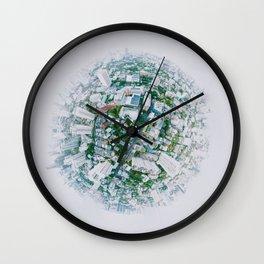 Fish Eye World View (Color) Wall Clock