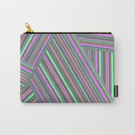 Abstract striped pattern. 5 Carry-All Pouch