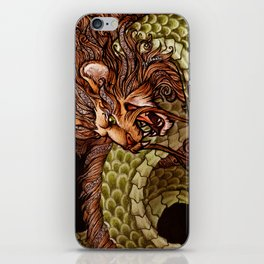 Lion Fire iPhone Skin