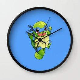 TMNT_POKET_MONSTER_BLUE Wall Clock