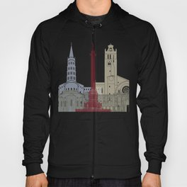 Toulouse skyline poster Hoody