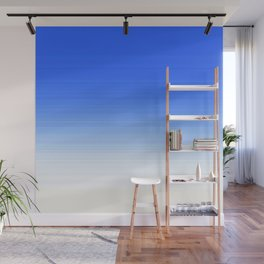 Sky Blue White Ombre Wall Mural