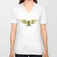 warhammer V-neck T-shirts featuring Astartes on the horizon by HenkusFilijokus