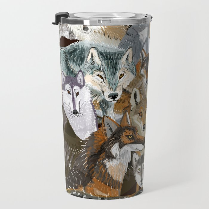 Wolves o´clock (Time to Wolf) Travel Mug